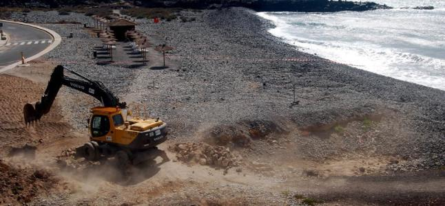 The Department of Sustainability of the Coast and the Sea invest 3.3 million euros in the renovation project of the San Blas beach in San Miguel de Abona