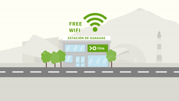 Titsa major stations already offer free WiFi to its users