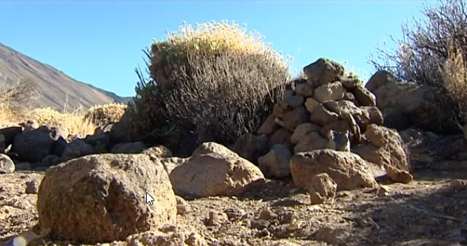 The piles of stones pose a threat to the ecosystem of Teide National Park in Tenerife