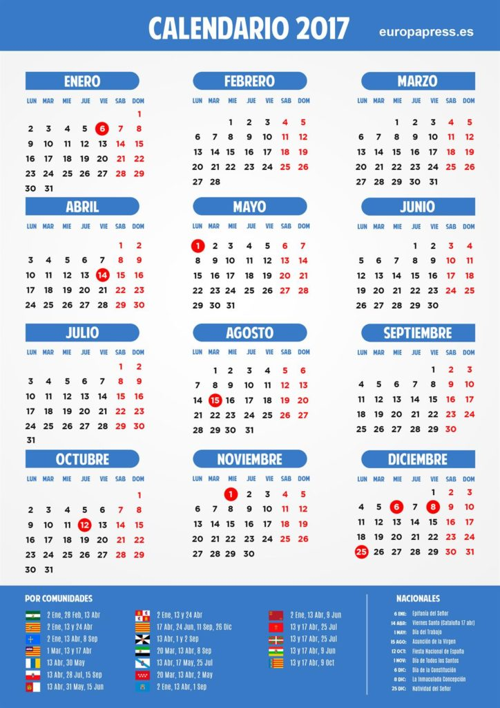 This year's calendar includes nine common national holidays in all ...
