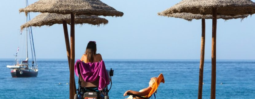 Las Vistas beach in south Tenerife is the only in Canaries that achieves the accessibility flag