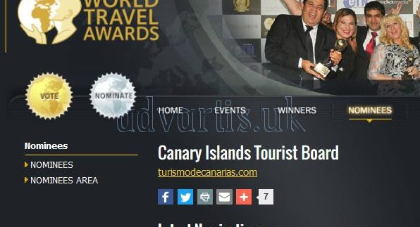 Canary Islands has been nominated for the World Travel Awards 2017 in the category of island destination in Europe