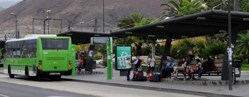 New timetable of five lines TITSA Tenerife bus in the Tenerife South