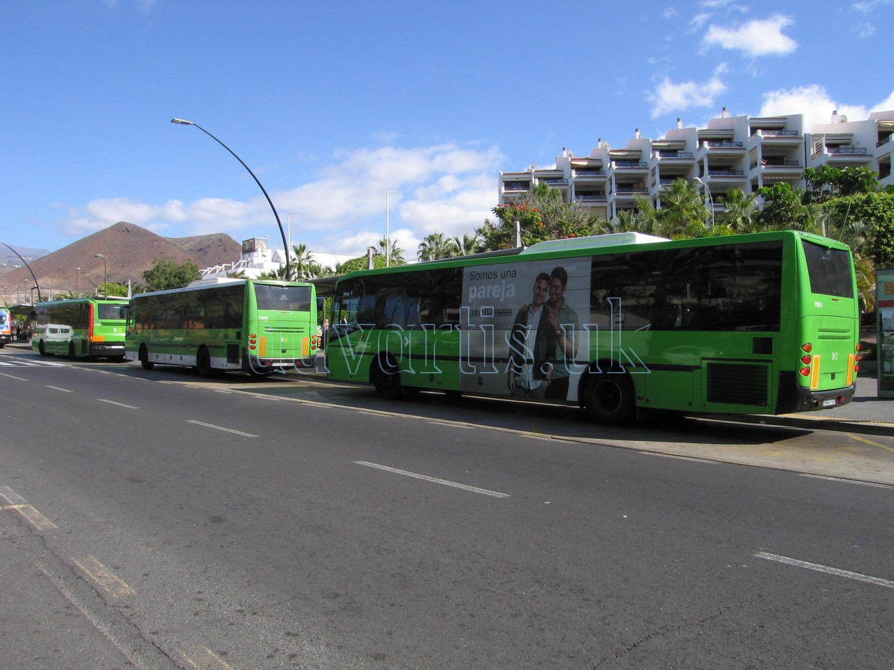 Tenerife bus in Los Cristianos bus station