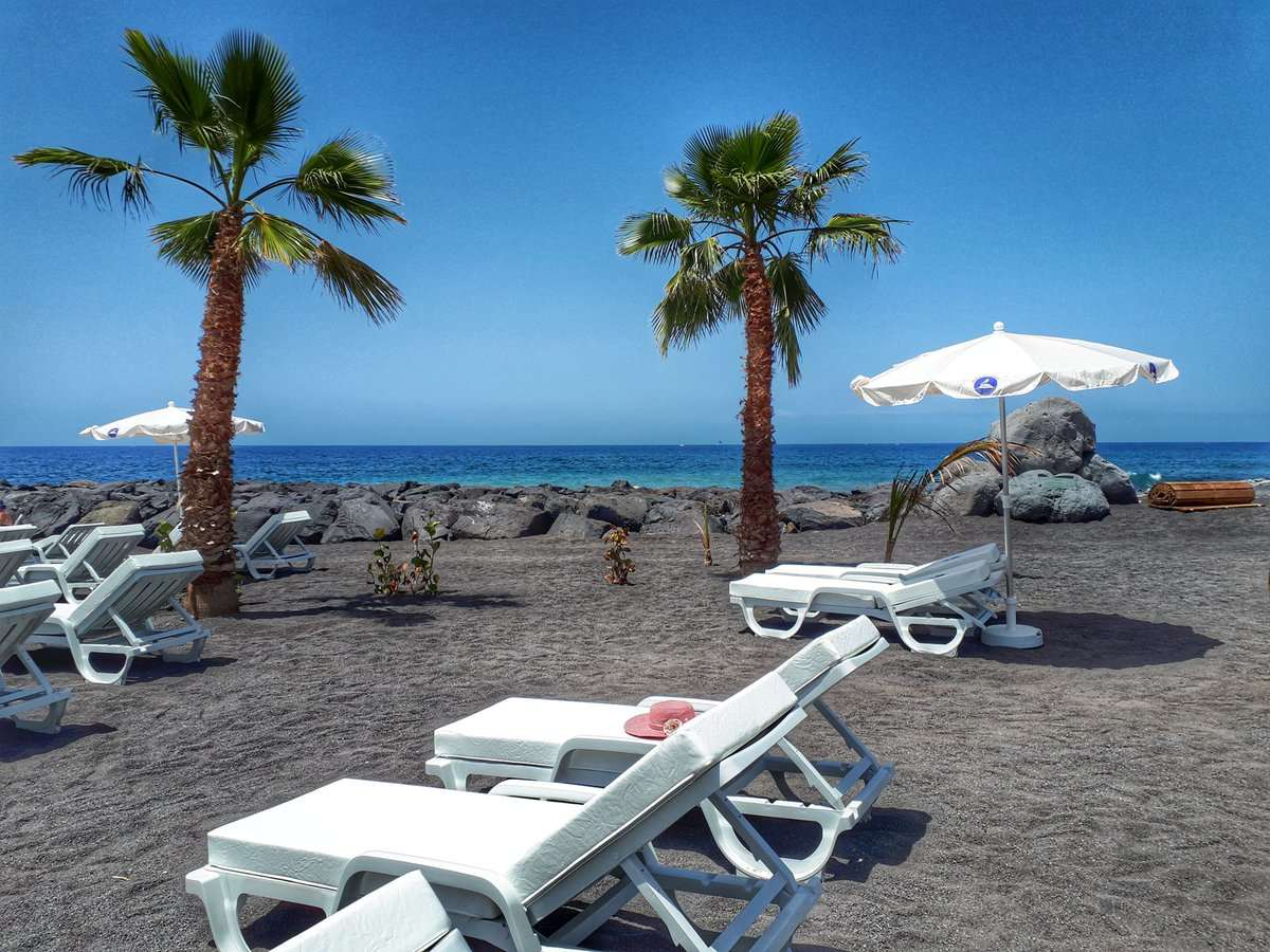 The Playa del Duque Norte beach in El Beril, Costa Adeje, Tenerife, reopened April 23, 2018