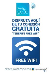 Tenerife 2030 contemplates 61 free wifi points located in the most visited places of Arona, Adeje, Puerto de la Cruz and Santiago del Teide.