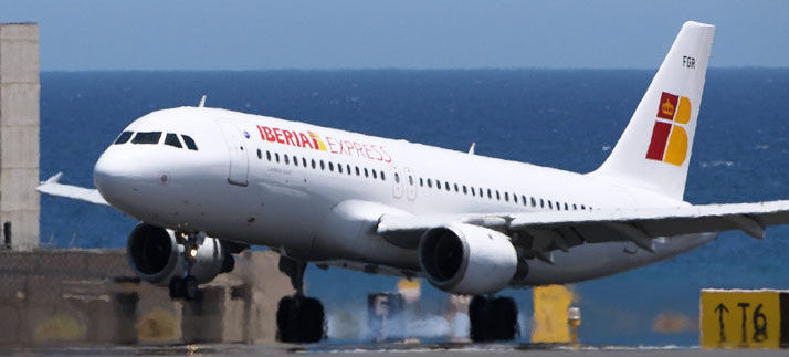 Tenerife was the route most operated by Iberia Express summer 2019