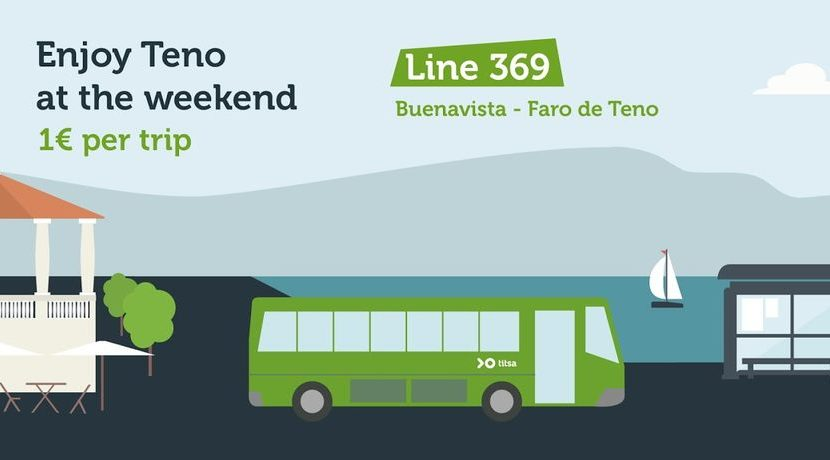 TITSA line 369 to Teno will operate with winter time October 1, 2019